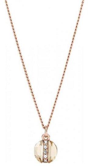 Top! Fossil Damen Halskette Rose Gold-Tone Brass für 14€ (statt 38€)