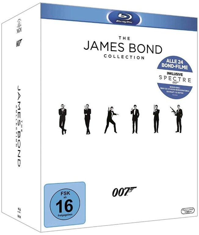 The James Bond Collection 2016 - 24 Filme auf Blu-ray für 49,48€ inkl. Versand