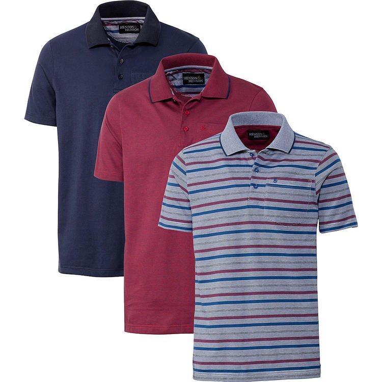 3er Pack Henson & Hensons Herren Poloshirts für 30€ inkl. Versand (statt 45€) - Restgrößen