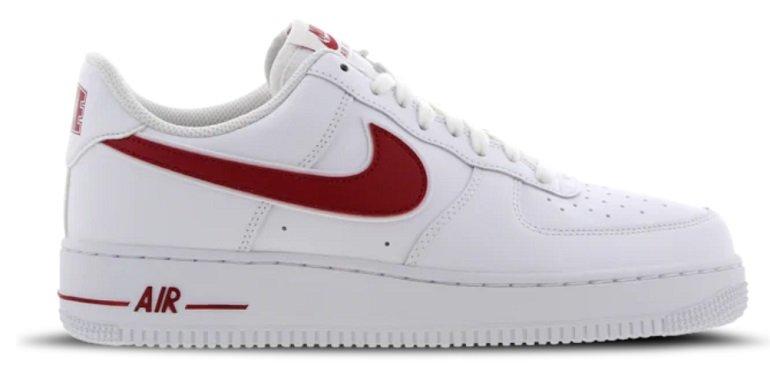 Nike Air Force 1 Low Herren Sneaker in White-Gym / Red-White für 59,99€ (statt 99€)