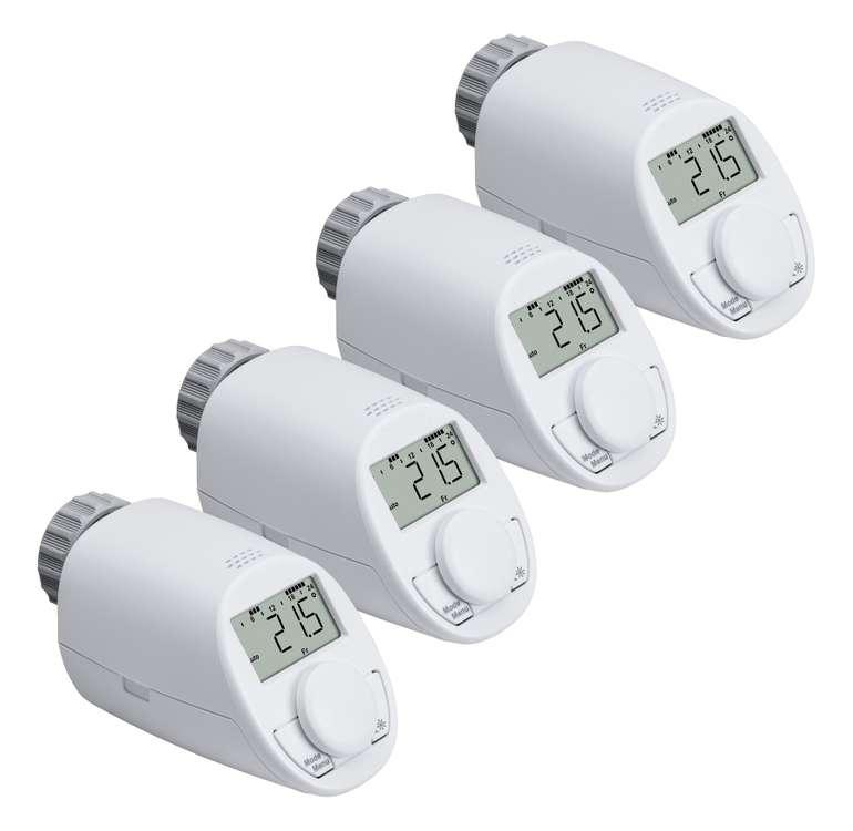 4er-Set Eqiva Heizkörperthermostat Model N mit Boost-Funktion für 34,50€ inkl. VSK (statt 40€)