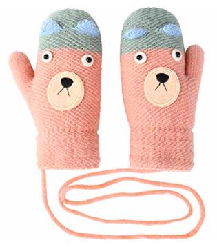 Vbiger Kinder Handschuhe (Strick, geeignet für 4-8 Jahre) ab 3,60€ inkl. Prime
