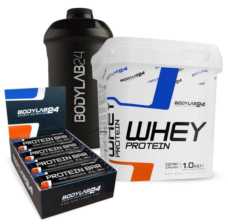 1kg Bodylab24 Whey Protein + 12 Protein Riegel + Shaker für 23,99€ (statt 34€)