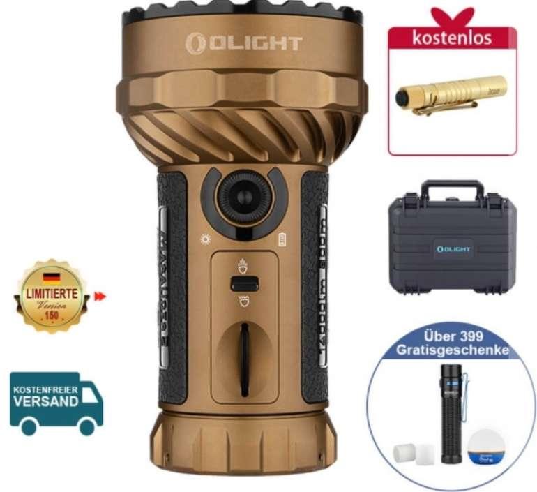 Olight Store Mai-Flashsale mit bis zu 35% Rabatt - z.B. Olight Marauder 2 Desert Tan + Geschenk für 429,95€