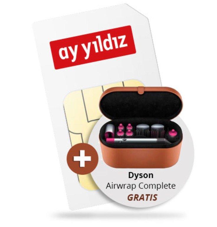 Ay Yildiz Ay Allnet Plus mit 12GB LTE + gratis Dyson Airwrap Complete (Wert: 478€) für 29,99€ mtl.
