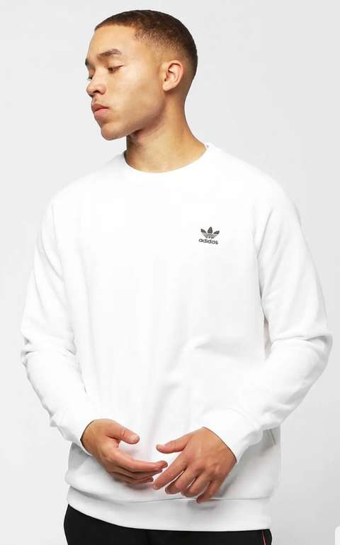 adidas Originals Essentials Sweatshirt in weiß für 27,99€ inkl. Versand (statt 39€)