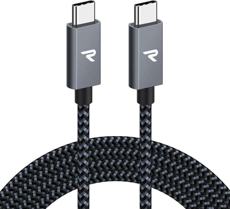 Rampow 2m USB C auf USB C Kabel (60W, PD) für 5€ inkl. Prime Versand (statt 12€)