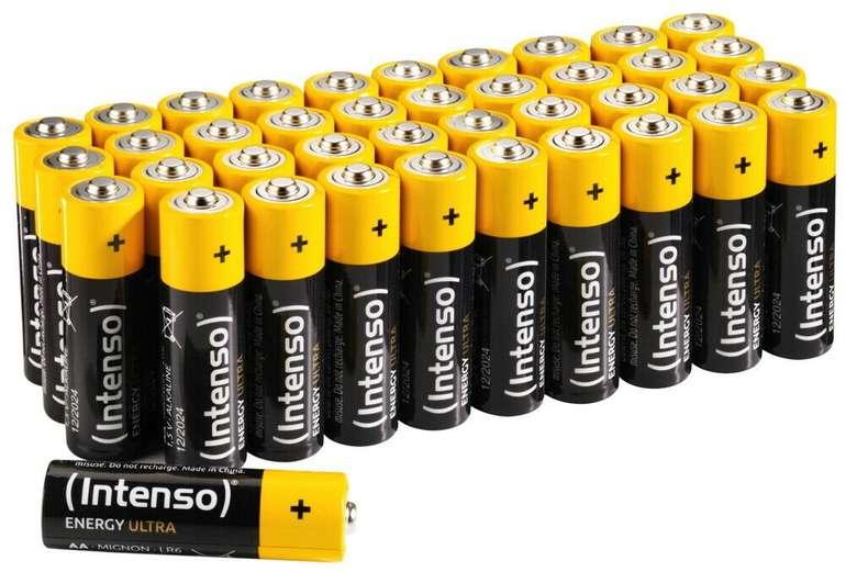 40er Pack Intenso Energy Ultra AA Mignon Alkaline Batterien für 5,99€ bei Abholung (statt 10€)