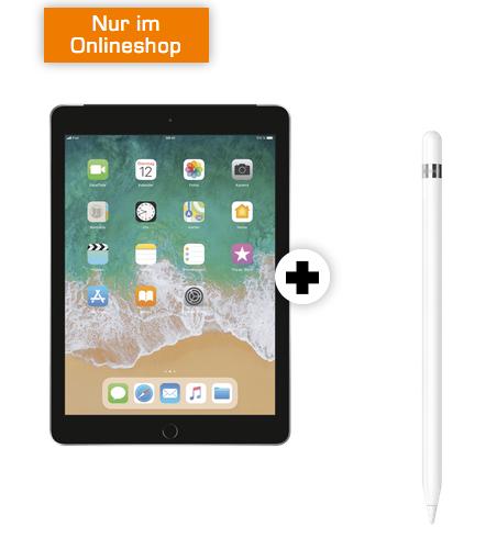 Apple iPad 2018 WiFi + Cellular + Pencil (79€) + 10GB Telekom LTE zu 19,99€ mtl.