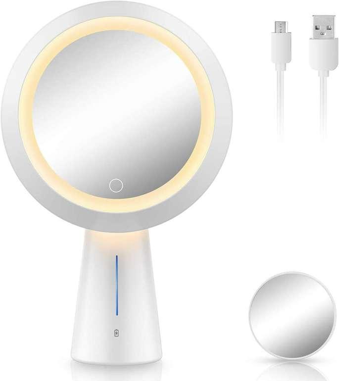 Mayepoo wiederaufladbarer Kosmetikspiegel mit Licht für 17,99€ inkl. Versand (statt 30€)