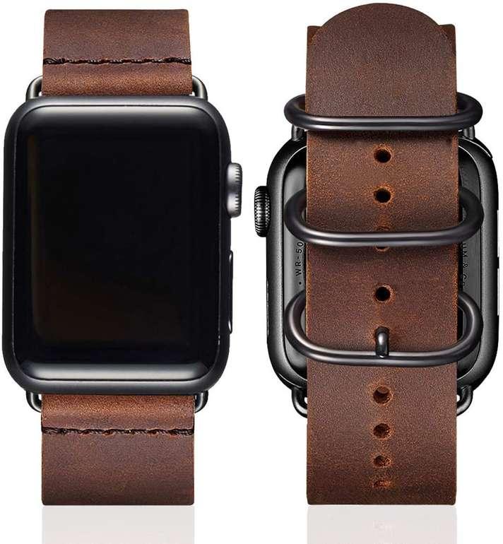 BesBand 42/44mm Retro Lederband (Apple Watch kompatibel) für 5,09€ inkl. Prime Versand (statt 14€)