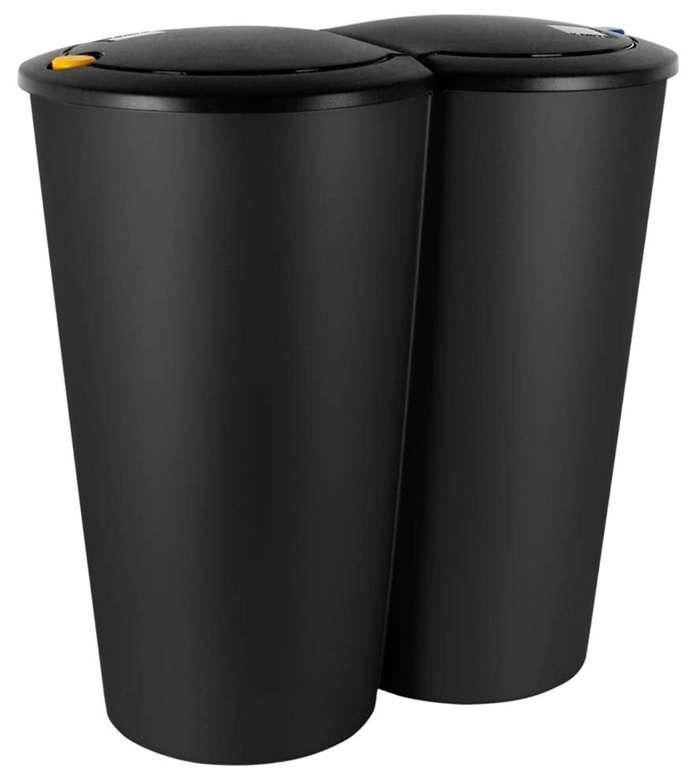 Deuba Mülleimer Duo Druckknopf-Automatik in schwarz für 18,95€inkl. Versand (statt 23€)