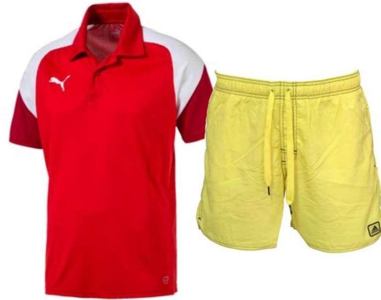 Puma Esito 4 Herren Polo Shirt + Adidas Solid Short SL Herren Badehose für 15€ inkl. Versand (statt 35€)