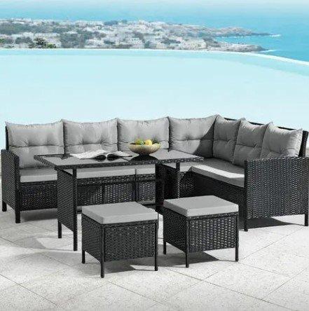 Juskys ArtLife Manacor Polyrattan Lounge Manacor Gartenmöbel Set für 406,95€inkl. Versand (statt 500€)