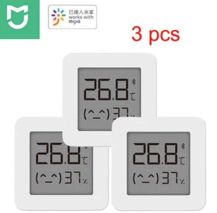 3er Pack Xiaomi Mijia LYWSD03MMC Bluetooth Hygrometer für 12,82€ inkl. Versand