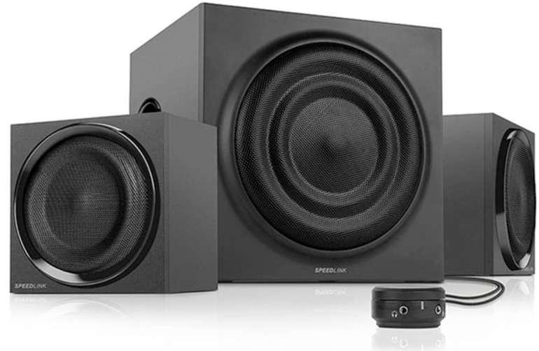 Speedlink Quanum - Aktives 2.1 Subwoofer Lautsprechersystem für 24,99€ inkl. Versand (statt 40€)