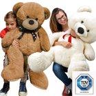 90cm großer Teddybär in weiß oder braun für je 19,95€ inkl. Versand