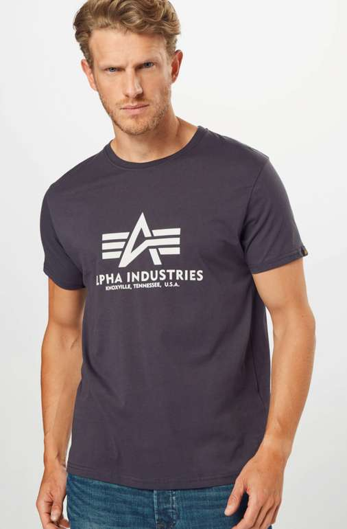 Alpha Industries T-Shirt (vers. Farben) ab 13,93€inkl. Versand (statt 20€)