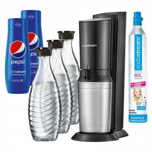 SodaStream Crystal 2.0 schwarz mit 3 Glaskaraffen und 2x Sirup für 104,35€ inkl. Versand (statt 115€)