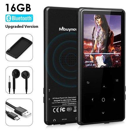 Mbuynow 2,5 Zoll Touchscreen MP3 Player mit 16GB & Radio für 20,89€
