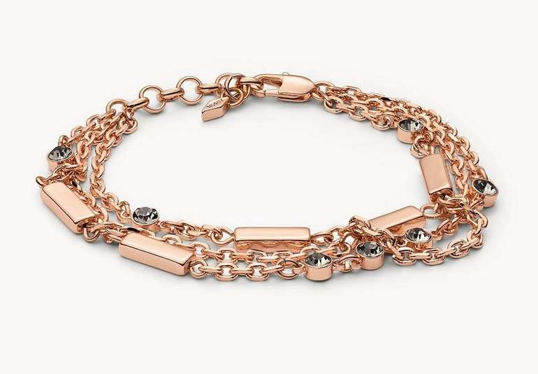 Fossil Damen Armband Glitz Bar Multi-Chain in 2 Farben für je 21,84€ inkl. Versand (statt 34€)