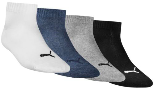 4er Pack Puma Quarter Socken (versch. Farben) für 9,99€ inkl. Versand