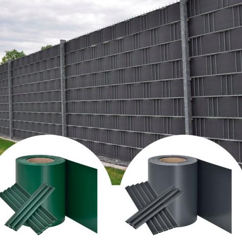 35m PVC Sichtschutzstreifen / Zaunfolie in grau oder grün für 15,95€ inkl. VSK