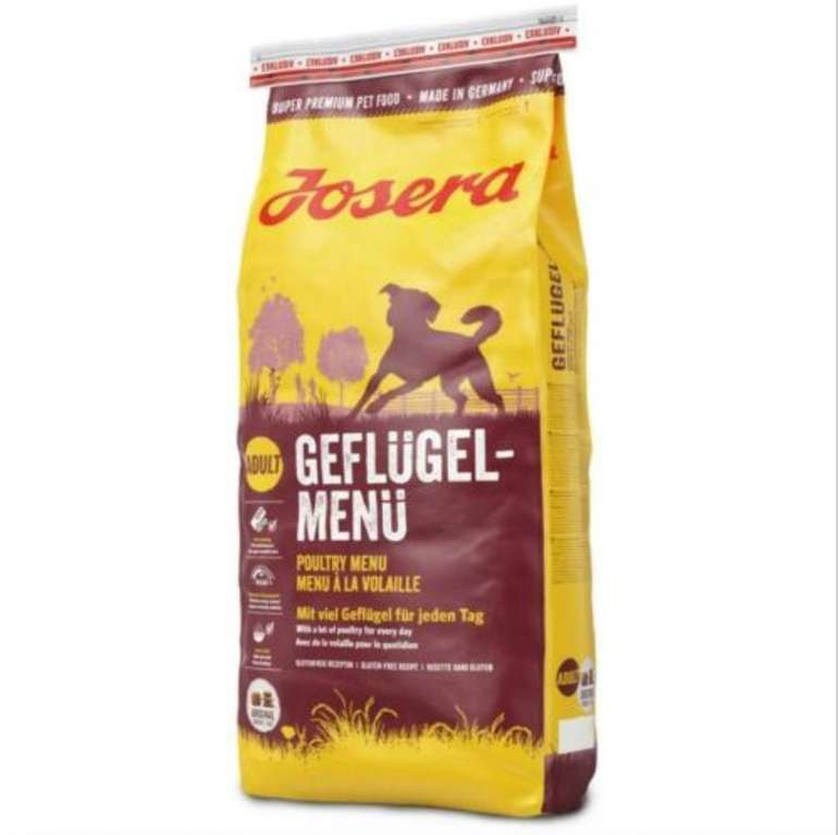 15kg Josera Geflügel-Menü Hundefutter für 29,98€ inkl. Versand (statt 33€)