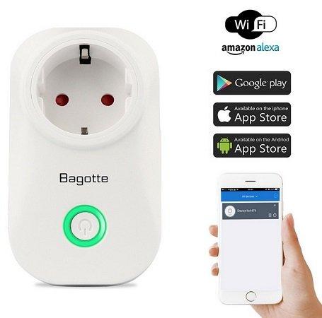 Wieder da: Bagotte - Intelligente WLAN Smart Steckdose für 7,99€ Prime / 11,98€