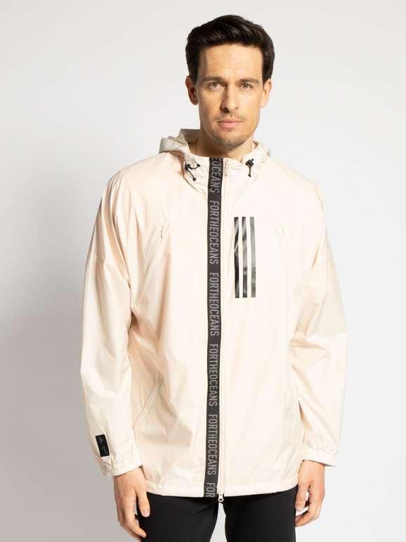 Adidas Trainingsjacke in beige für 33,71€ inkl. Versand statt 70€)