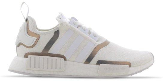 Adidas Originals NMD_R1 Damen Sneaker in Weiß/Gold für 79,99€ inkl. Versand (statt 140€)