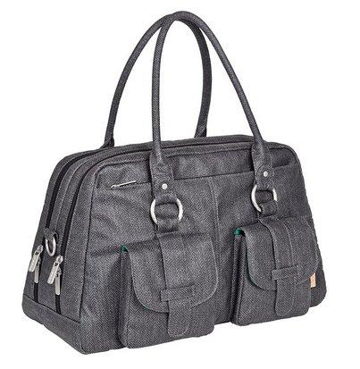 Lässig Vintage Metro Bag Wickeltasche in Twill black für 54,95€ (statt 96€)
