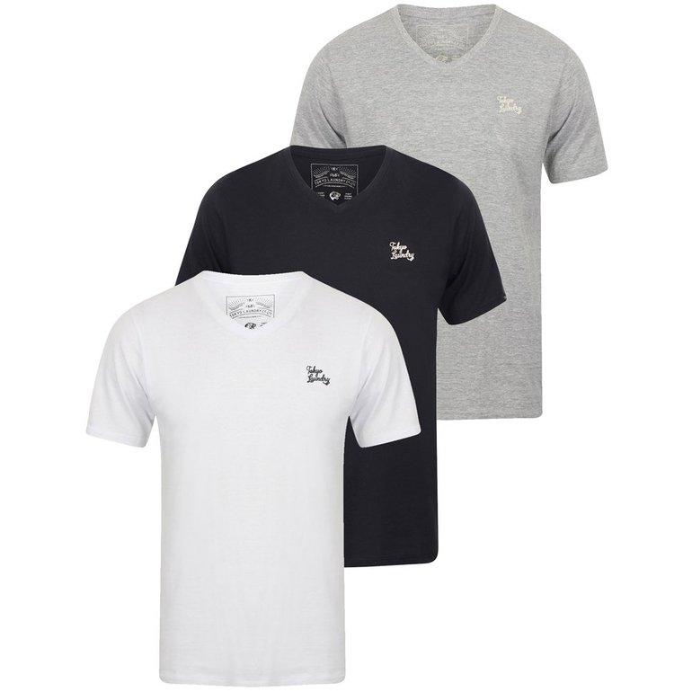 3er Pack Tokyo Laundry Nousu Herren T-Shirts für 17,94€ inkl. Versand