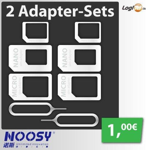 2 SIM Adapter Sets von Noosy für nur 1€ inkl. Versand
