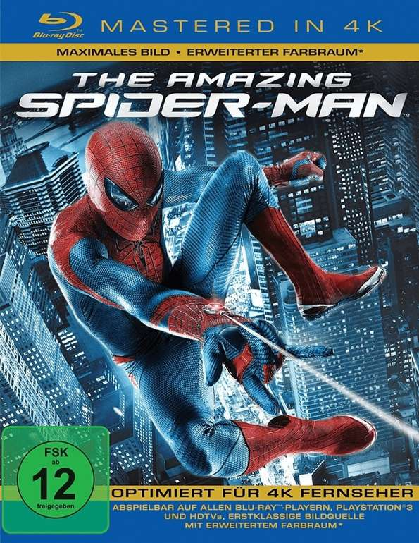 The Amazing Spider-Man 4K (Mastered in 4K, Blu-ray) für 7,90€ inkl. Versand (statt 10€)