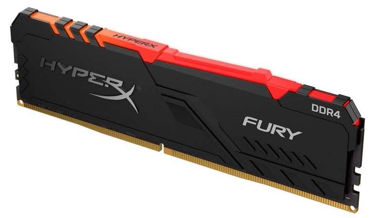 HyperX DIMM 16 GB DDR4-3200, Arbeitsspeicher (Fury Black RGB) für 71,69€ (statt 81€)