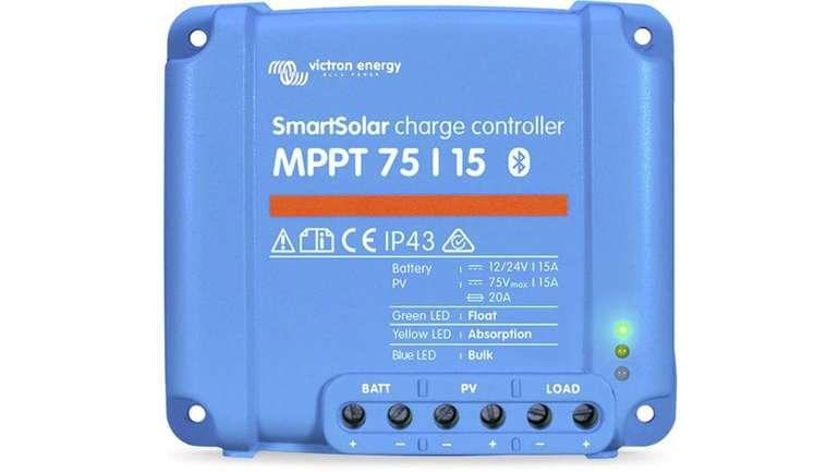 Victron SmartSolar (Bluetooth) 75/15 MPPT Laderegler für 97,04€ inkl. Versand (statt 109€)