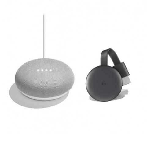 Google Chromecast 3 + Google Nest Mini für 65€ inkl. Versand (statt 76€)