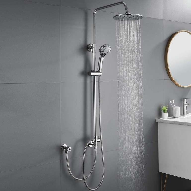 Auralum Duschsystem mit Regendusche & Handbrause für 39,59€ (statt 66€)