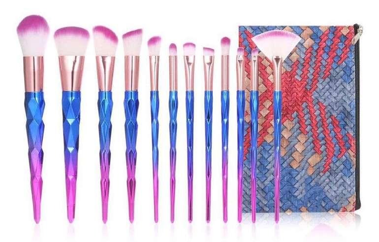 Anself - 12-teiliges Make-up Pinsel Set für 7,99€ inkl. Versand (statt 16€)