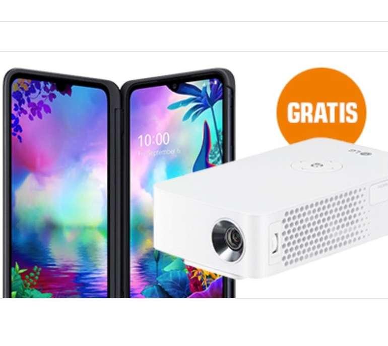 LG G8X Thinq (49€) + LG LED Mini-Beamer + Telekom Magenta Mobil S (6GB LTE 300Mbit) für 29,95€ mtl.