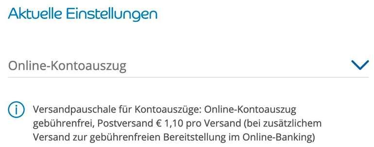 Online Kontoauszug