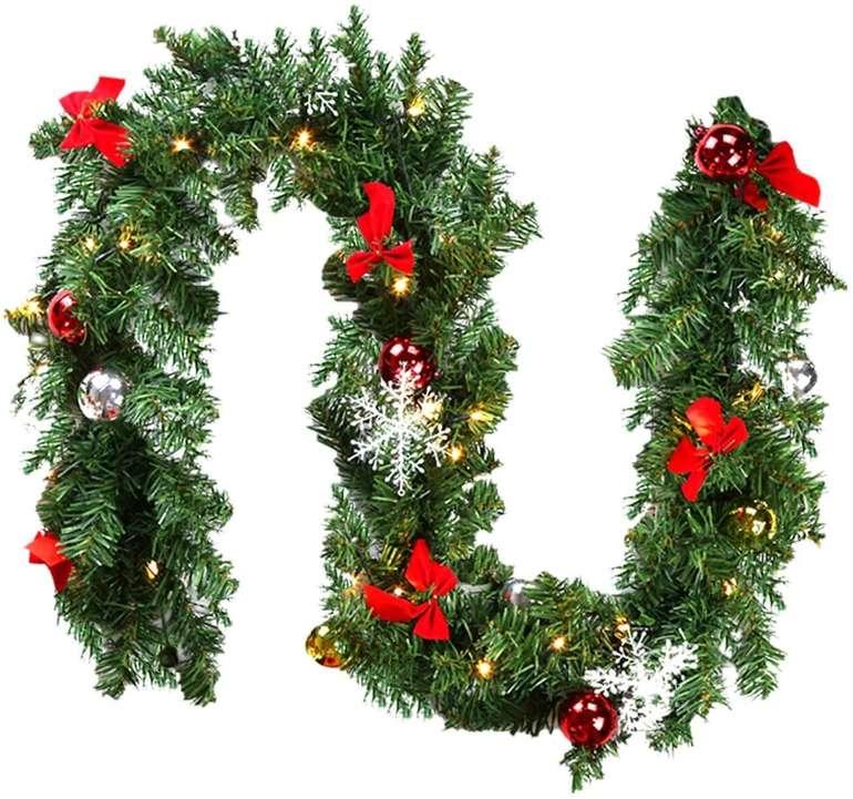 Hengda Weihnachtsgirlanden günstiger, z.B. 5m mit Deko für 19,19€(statt 30€)