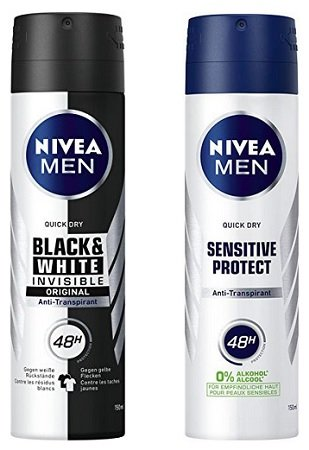6er Pack Nivea MEN Black & White Invisible Deo Spray für 6,96€ (Prime)