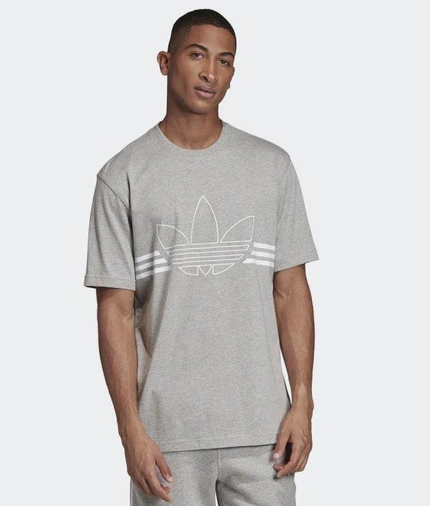 Adidas Outline Herren T-Shirt in 3 Farben für je 15,66€ inkl. Versand (statt 23€)