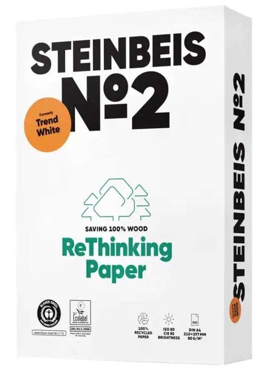 5000 Blatt Steinbeis Nr. 2 100% Recycling Kopier-/ Druckerpapier (DIN A4, 80 g/m², 85 CIE) für 17,14€ (statt 36€)