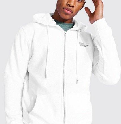 Boohoo Fashion Sale mit bis zu 80% Rabatt auf (fast) Alles - z.B. Official MAN Fleece-Hoodie für 16€