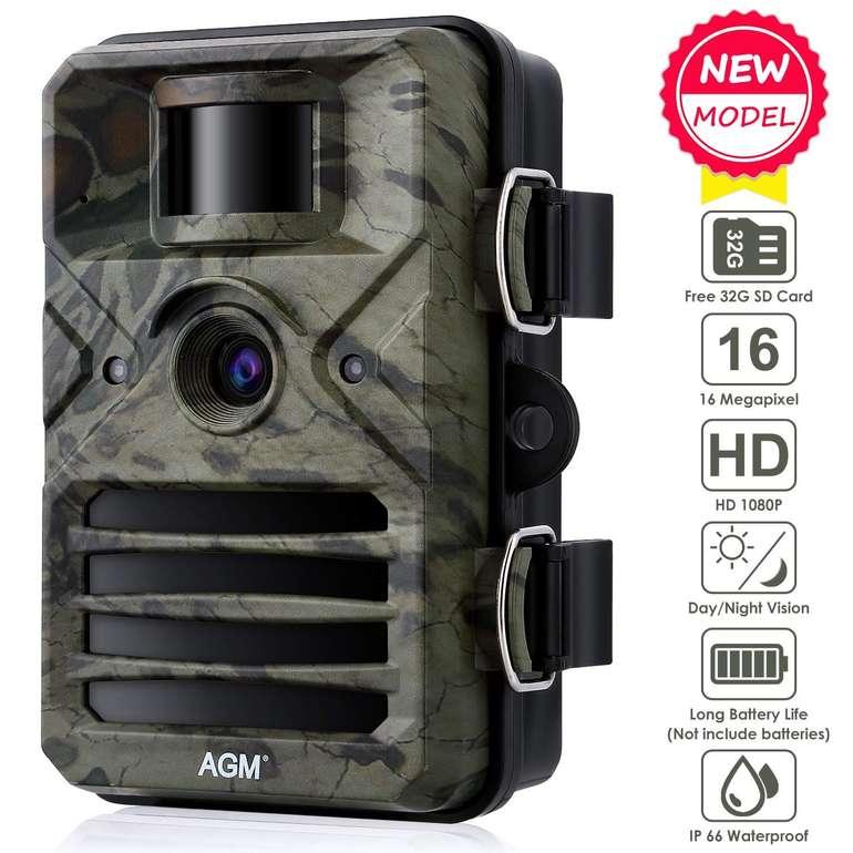 AGM 16MP Wildkamera mit 1080p Aufnahmen & Nachtsicht ab 31,99€ inkl. VSK