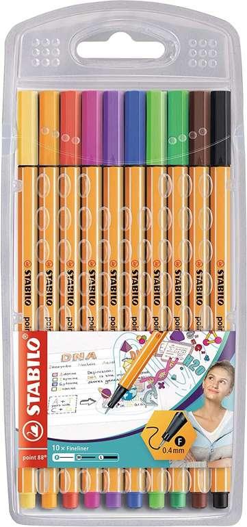 Stabilo Fineliner Point 88 - 10er Pack (10 Standardfarben) für 3,89€ inkl. Versand (statt 7€)
