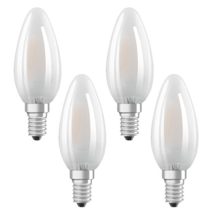 4er Pack Osram LED Star Classic Kerzenlampen (E14 Fassung) für 7,99€